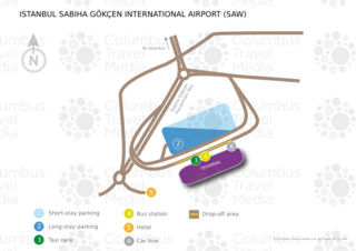 Map of Sabiha Gökçen airport & terminal (SAW)