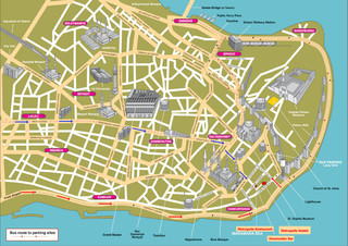 Tourist map of Istanbul attractions, sightseeing, museums, sites, sights, monuments and landmarks